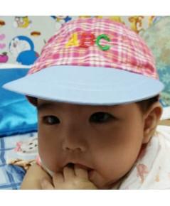 หมวกเด็ก ABC (สีชมพู)