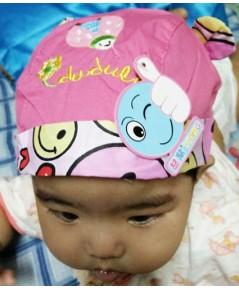 หมวกเด็ก ปักลายเต่าทอง (สีบานเย็น)