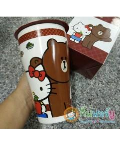 แก้วมัคสีน้ำตาล Sanrio Characters-Line Friends (สินค้า 7-11)