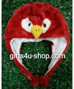 หมวกแฟนซี หัวนกสีแดง (red bird)