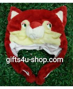 หมวกแฟนซี หัวแมว (สีแดง)