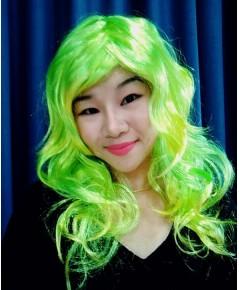 1 อัน สีเขียวเหลือง วิกฟาร่า วิกผมยาวดัดลอน วิกนางงาม วิกคอสเพล วิกผมปลอม วิกแฟนซี Farah Wig fancy