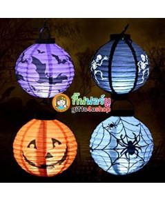 แพ็ค 4 อัน Gifts4u-shop Lantern halloween โคมไฟฮาโลวีน โคมไฟแขวน โคมไฟกระดาษ