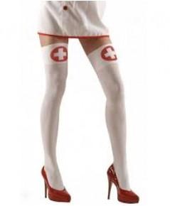 1 คู่=2 ข้าง สีขาว ถุงน่องพยาบาลเซ็กซี่ ถุงน่องพิมพ์ลาย ถุงน่องผู้ใหญ่ ถุงน่องแฟนซี ถุงน่องคอสเพลย์