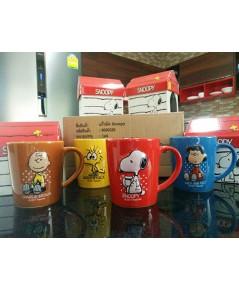 ครบเซ็ต 4 ใบ แก้วมัคสนูปปี้ ของสะสมพรี่เมี่ยม สินค้าเซเว่นอีเลเว่น 7-11 Snoopy Mug Limited edition