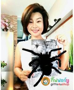 1 ตัว สีดำ แมงมุมตัวใหญ่ แมงมุมปลอม ตุ๊กตาแมงมุม ของเล่นตลก ของเล่นแกล้งคน อุปกรณ์ตกแต่ง ฮาโลวีน