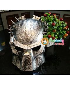 1 อัน สีบรอนซ์เงิน หน้ากากพรีเดเตอร์ หน้ากากแฟนซี หน้ากากฮาโลวีน Predators Mask Halloween