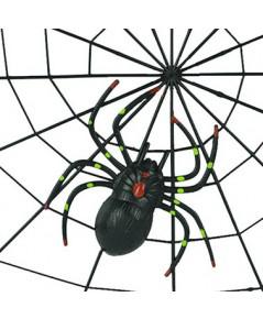 1 ชุด ใยแมงมุมพลาสติก โครงใยแมงมุม ปาร์ตี้ฮาโลวีน Spider webs Plastic Party Halloween