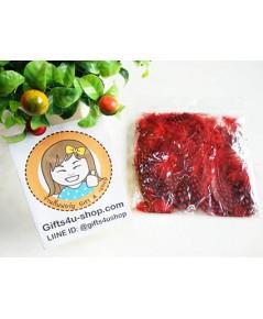 1 ถุง ลายจุด สีแดง ขนเป็ดย้อมสี ขนนกย้อมสี ขนไก่ย้อมสี ขนเฟอร์ สำหรับงานประดิษฐ์ ดีไอวาย DIY