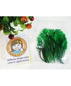 1 ถุง สีเขียวเข้ม ขนเป็ดย้อมสี ขนนกย้อมสี ขนไก่ย้อมสี ขนเฟอร์ สำหรับงานประดิษฐ์ ดีไอวาย DIY