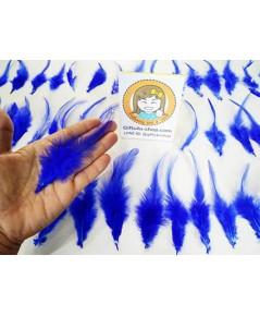 1 ถุง สีน้ำเงิน ขนเป็ดย้อมสี ขนนกย้อมสี ขนไก่ย้อมสี ขนเฟอร์ สำหรับงานประดิษฐ์ ดีไอวาย DIY