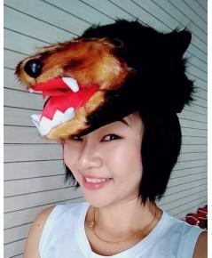 1 ใบ หมวกหมีควาย หมวกรูปสัตว์ หมวกหัวสัตว์ หมวกตัวการ์ตูน หมวกผ้าขน หมวกกันหนาว หมวกแฟนซี