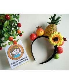 1 อัน ที่คาดผมผลไม้รวม ที่คาดผมสับปะรด ที่คาดผมแฟชั่น ที่คาดผมแฟนซี Fruit Headband