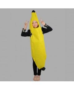 ชุดแฟนซีเด็ก ชุดกล้วย ชุดผลไม้ ชุดเด็ก ชุดการแสดง ทำจากผ้าใยสำลี ขนาด 50x75 ซ.ม. banana fruit suit