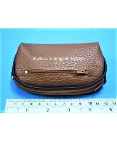 กระเป๋าหนังช้างเทียม - 5 นิ้ว 2 ซิป