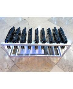 case aluminium 9 gpu miner / handmade