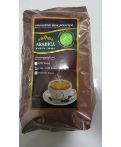 กาแฟอาราบิก้าแท้คั่วหอม(บลูเมาเท่น) ขนาดบรรจุถุงฟลอย 500g. (แบบบดสำเร็จ)