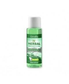 น้ำยาบ้วนปาก Giffarine herble fresh sero Alcohol mouth wash  ขนาด 80 มล.ขนาดพกพาขึ้นเครื่องได้