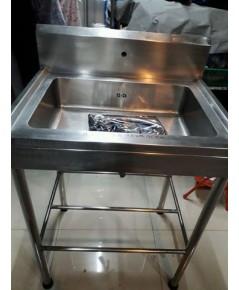 ซิ้งค์ล้างจานสแตนเลสแบบ อ่างกว้างลึก15cm