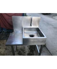 ซิ้งค์ล้างจานล้างของ สแตนเลสๆ 304 ลึก15cm แถมอุปกรณ์ครบพร้อมใช้งาน