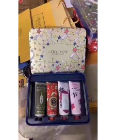 L\'occitane - Holiday Hand Cream 4-Piece Set collection กล่องเหล็กลายดาว พร้อมถุงห้าง
