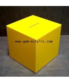 Tip Box สีเหลือง ขนาด 15 ซม.