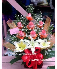 กระเช้าดอกไม้V022