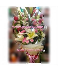 ช่อดอกไม้โทนสดใส B051