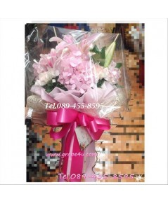 ช่อดอกไม้โทนชมพู B052
