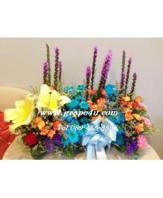 ถาดดอกไม้โทนสดใส V023