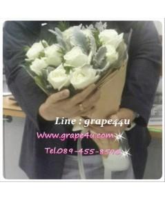 ช่อดอกกุหลาบขาว B056