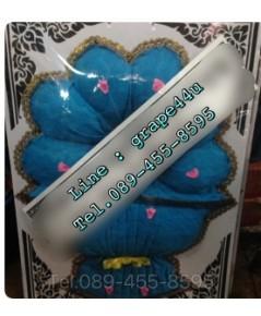 พวงหรีดผ้าสีฟ้าเกรดA WT045