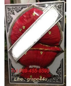 พวงหรีดผ้าสีแดง เกรดA WT047