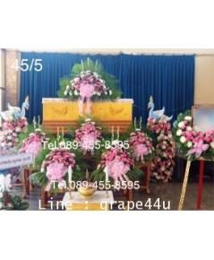 ดอกไม้หน้าหีบศพโทนสีขาวชมพู45/5
