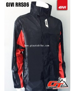 GIVI Rain Suit / RRS06 / Black Red