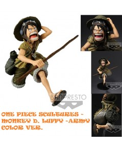 Banpresto :ONE PIECE SCULTURES - MONKEY D. LUFFY -ARMY COLOR VER. Oversea Limite(PVC Figure) LIMITED
