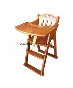 เก้าอี้อาหารเด็ก ไม้ยาง