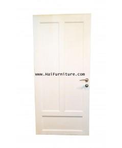 ประตูลูกฟักไม้สัก พร้อมชุดลูกบิดเขาควาย 182*90*4 ซม.
