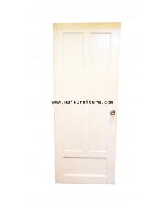 ประตูลูกฟักไม้สัก พร้อมชุดลูกบิด 199*80*4 ซม.