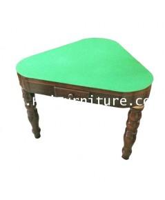 โต๊ะเล่นไพ่ 3 ขา ไม้สัก ปี 1960 93-93-76 ซม.