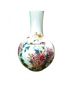 แจกันจีน ลายดอกไม้ 22*33 ซม.