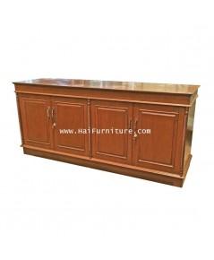 ตู้เก็บของไม้ 4 บานประตู สไตล์ยุโรป 184*53*83.5 ซม.