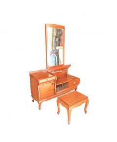 โต๊ะเครื่องแป้ง ไม้สัก ช่างเซี่ยงไฮ้ ปี 1940 107*38*150 ซม.