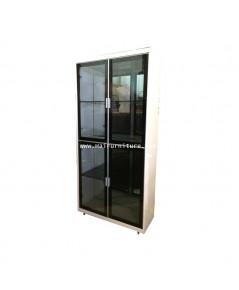 ตู้โชว์ประตู 4 บาน กระจกสีชา 90*35*189 ซม.