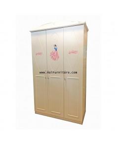 ตู้เสื้อผ้า 3 บาน  Snowwhite 120*57*207 cm