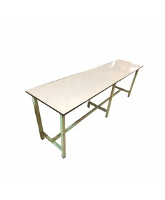 โต๊ะหน้าโฟไมกา ขาเหล็ก 241*61*80 ซม.