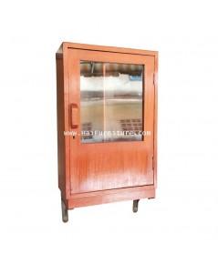 ตู้แขวนโชว์ ไม้สัก ปี 1950 28*12*52 ซม.