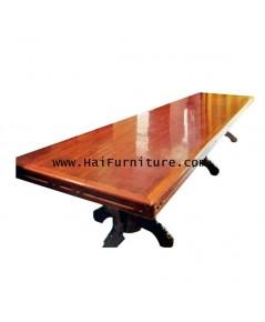 โต๊ะอาหารไม้มะค่า ทั้งแผ่น ปี 1970 486*117*80 ซม.