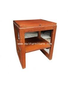 โต๊ะไม้สัก ข้างเตียง ช่างเซี่ยงไฮ้ ปี 1960 34*31*41 ซม.