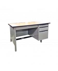 โต๊ะทำงานเหล็ก 4 ฟุต หน้าเมลามีน Elegant